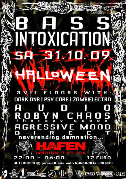 Party Flyer BassIntoxication HELL-O-WEEN 31 Oct '09, 22:00