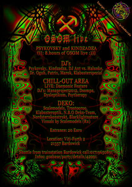 Party Flyer Halloween Dark Horror Night 2 with OSOM LIVE 31 Oct '09, 22:00