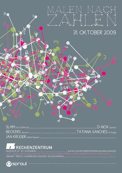 Party Flyer MALEN NACH ZAHLEN 31 Oct '09, 23:00