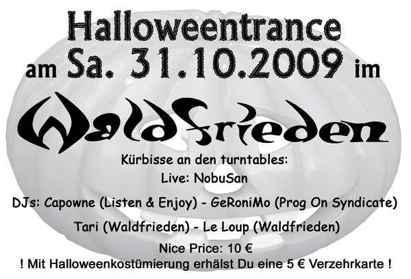 Party Flyer Planet Waldfrieden - Halloweentrance 31 Oct '09, 23:00