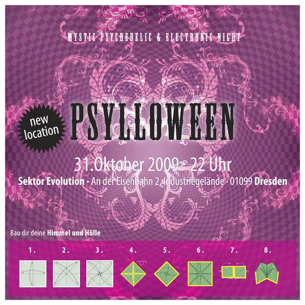 Party Flyer PSYLLOWEEN - mystic psychedelic & electronic night 31 Oct '09, 22:00