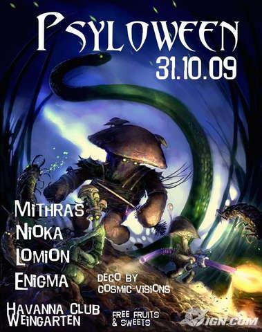 Party Flyer ***Psyloween*** 31 Oct '09, 22:00