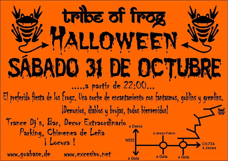 Party Flyer Tribe of Frog - Halloween Nightmare Fiesta from Hell 31 Oct '09, 22:00