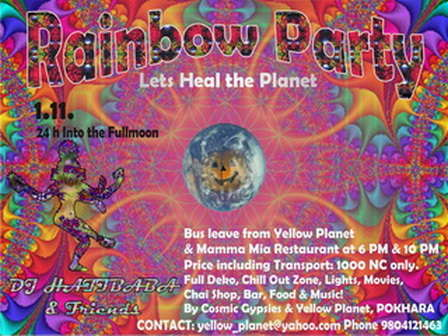Party Flyer RAINBOW PARTY - Lets Heal the Earth 1 Nov '09, 18:00