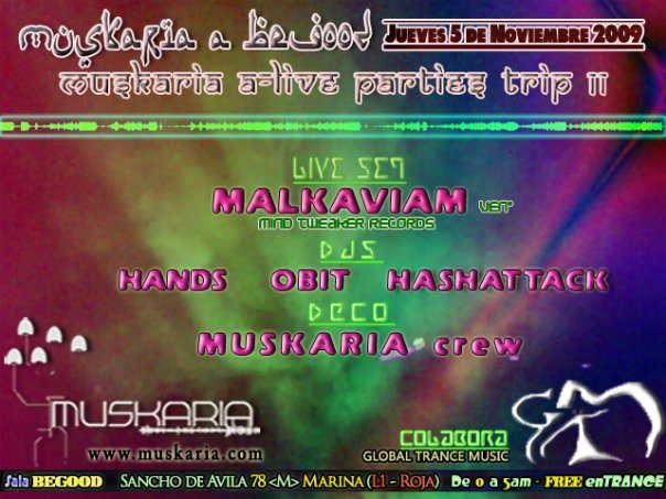 Party Flyer www.muskaria.com :: A-LIVE Vol11 @ Begood Club - FREE PARTY 4 Nov '09, 23:30