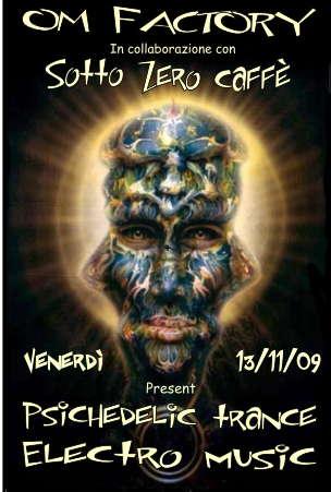 Party Flyer *** SOTTOZERO PSY_FRIDAY *** by OM FACTORY 5 Nov '09, 22:00