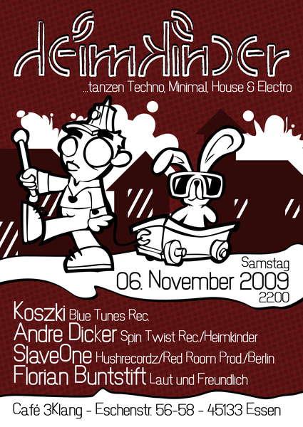 Party Flyer Heimkinder 6 Nov '09, 22:00