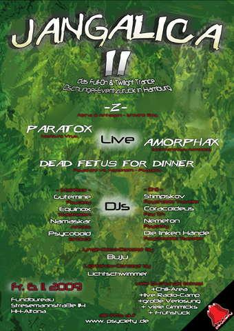Party Flyer Jangalica II -Das Dschungel Erlebnis- 150% PARTY! 6 Nov '09, 22:00
