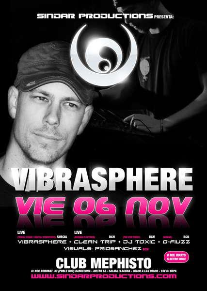 Party Flyer SINDAR BCN presenta :: VIBRASPHERE :: 6 Nov '09, 23:30