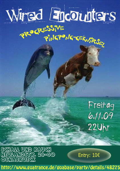 Party Flyer Weird Encounters (PingPong-Geknirsel part1) 6 Nov '09, 22:00
