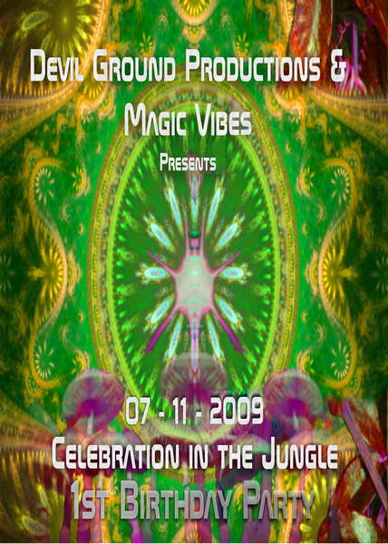 Party Flyer CELEBRATION IN THE JUNGLE DEVIL GROUND 1ST BIRTHDAY PARTY 7 Nov '09, 22:00