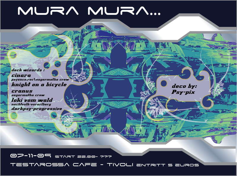 Party Flyer mura mura 7 Nov '09, 22:00