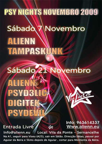 Party Flyer PSY NIGHT NOVEMBER 7 Nov '09, 23:30