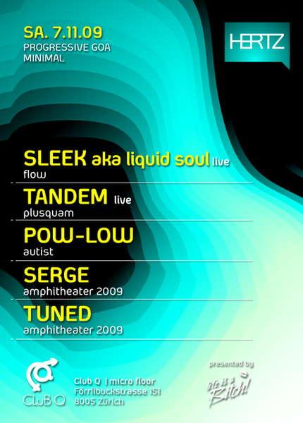Party Flyer SLEEK aka LIQUID SOUL live ... 7 Nov '09, 23:00