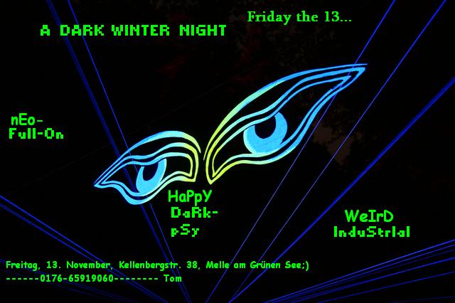 Party Flyer A DARK WINTER NIGHT -Froschiger BrainDance- 13 Nov '09, 21:00
