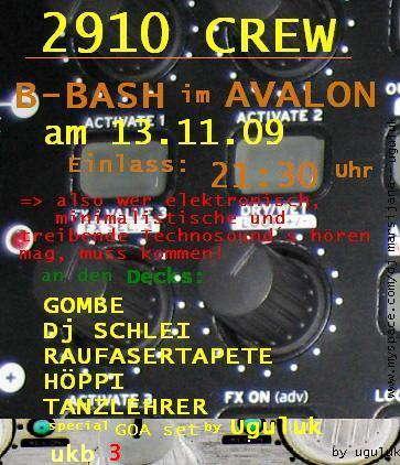 Party Flyer 2910 Crew 13 Nov '09, 22:00