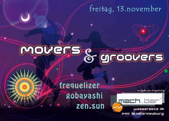 Party Flyer ° MOVERS & GROOVERS ° dance with friends 13 Nov '09, 22:00