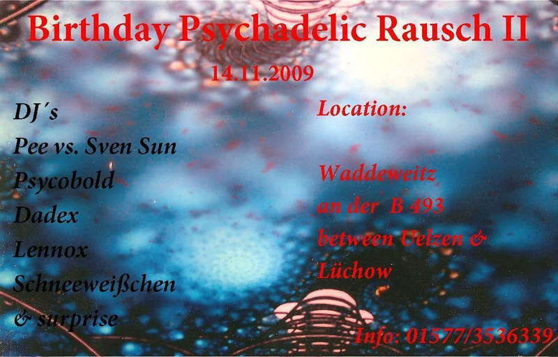 Party Flyer Birthday Psychadelic Rausch 2 14 Nov '09, 20:00