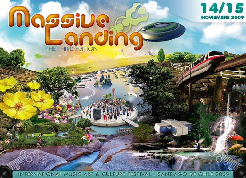 "Party Flyer MASSIVE LANDING "" The Third Edition"" 14 Nov '09, 22:00"