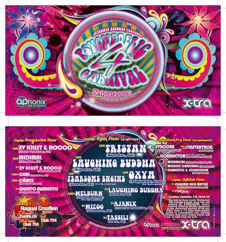 Party Flyer PSYCHEDELIC CARNIVAL 4 14 Nov '09, 22:00