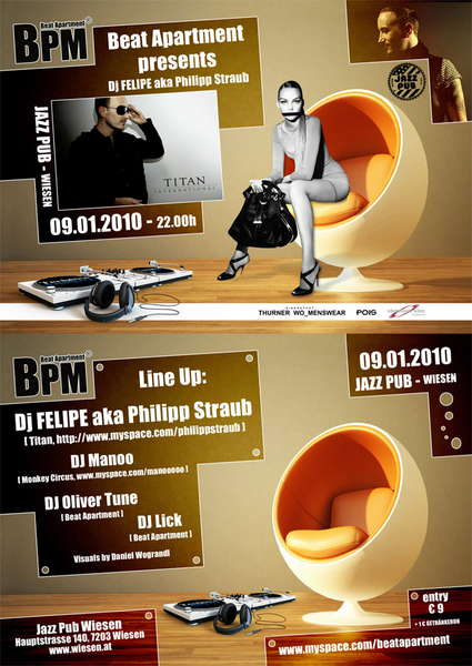 Party Flyer B_eat a_P_arte_M_ent special with........ 9 Jan '10, 21:00