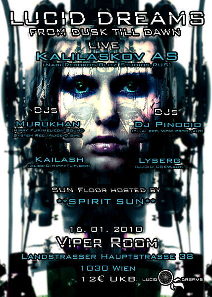 Party Flyer *LUCID DREAMS* FROM DUSK TILL DAWN with KALILASKOV AS 16 Jan '10, 21:00