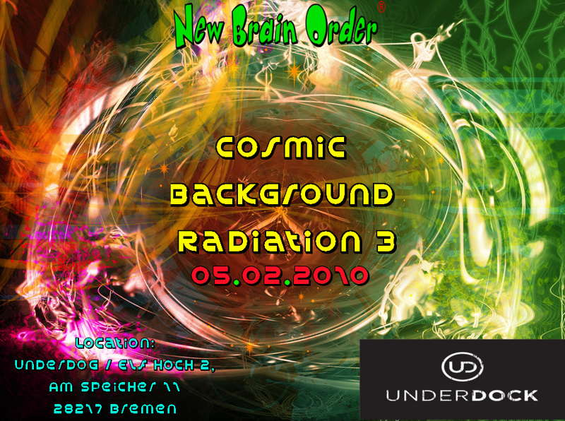 Party Flyer Cosmic Background Radiation 3 5 Feb '10, 22:00