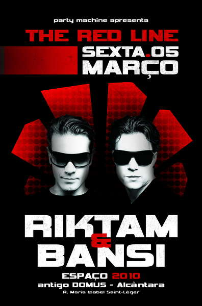 Party Flyer The Red Line with RIKTAM & BANSI live 5 Mar '10, 23:30