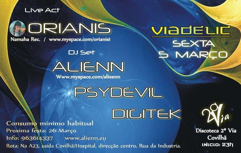 Party Flyer VIADELIC - Covilha 5 Mar '10, 23:30