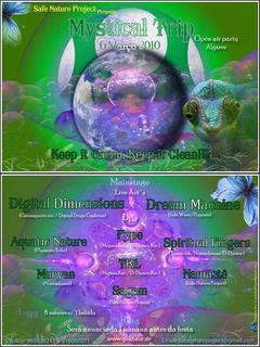 "Party Flyer Safe Nature Project presents ""Mystical Trip"" 6 Mar '10, 23:00"