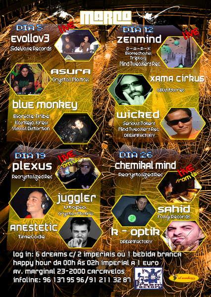 Party Flyer DREAM FACTORY - MARÇO - PSY SESSIONS @ EL SOMBRERO 12 Mar '10, 23:30