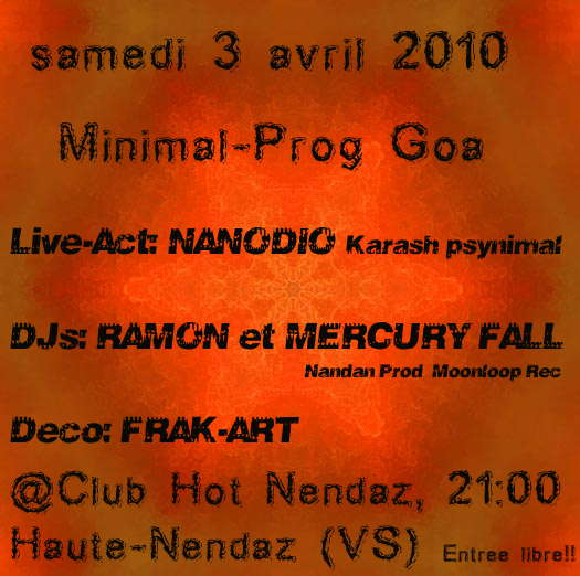Party Flyer Psynimal proggy night 3 Apr '10, 22:00