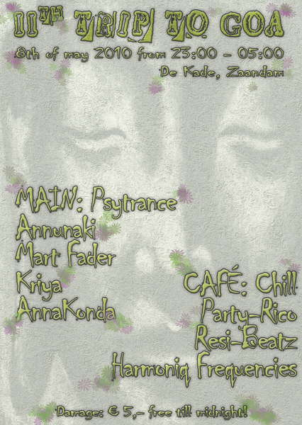 Party Flyer 11th trip to GOA 8 May '10, 23:00