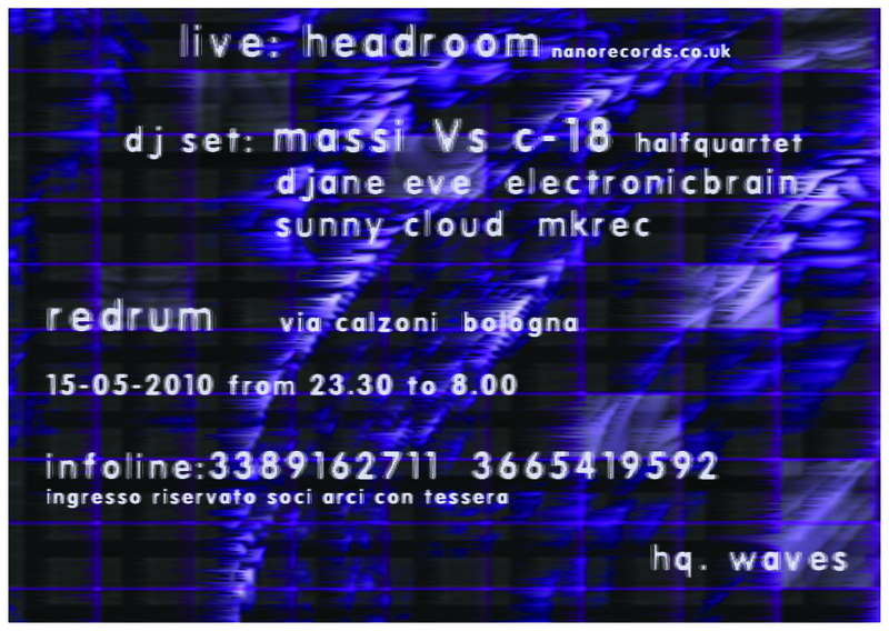 Party Flyer INTERFERENCE headroom live 15 May '10, 23:00