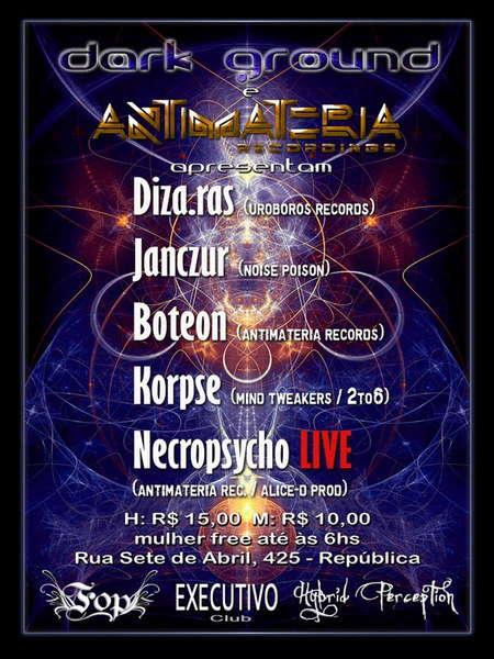 Party Flyer Rebirth vs Antimateria 16 May '10, 05:00