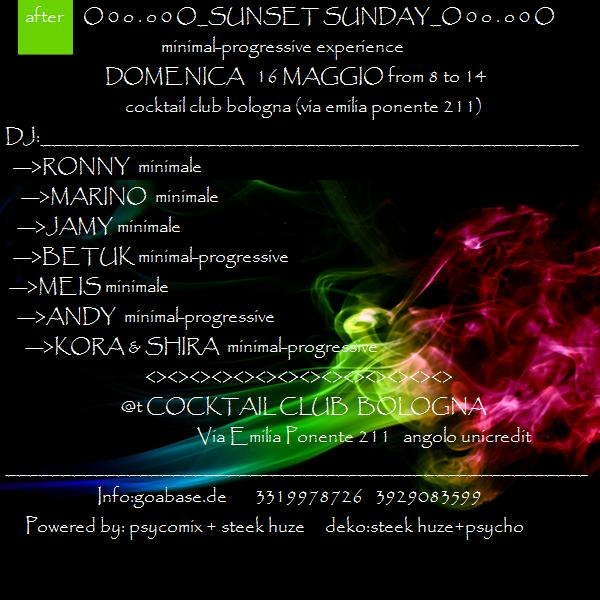 Party Flyer SuNSeT SuNdAy 16 May '10, 09:00