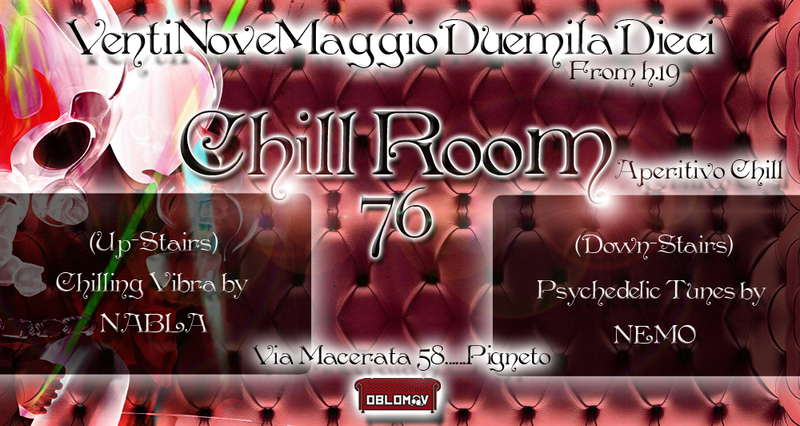 Party Flyer Chill Room 76 29 May '10, 19:00