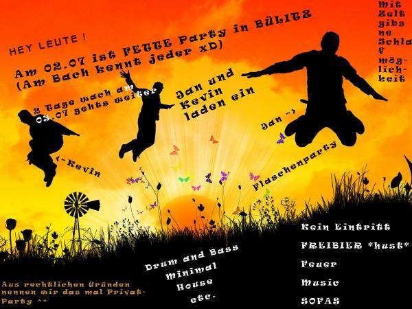Party Flyer Partysession in Bülitz 2 Jul '10, 20:00