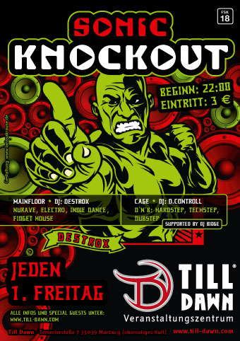 Party Flyer SONIC KNOCKOUT 2 Jul '10, 22:00