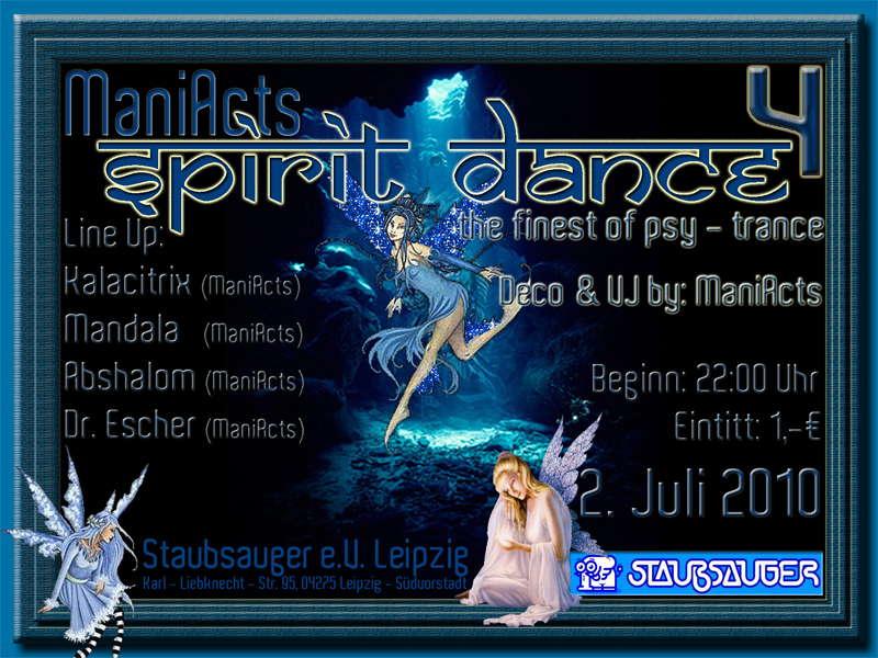 Party Flyer Spirit Dance 4 + B. Day - open air 2 Jul '10, 22:00