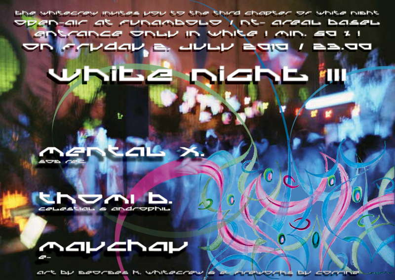 Party Flyer White Night III 2 Jul '10, 23:00
