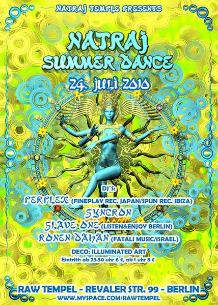 Party Flyer Natraj Temple - Summer Dance 2010 24 Jul '10, 23:30