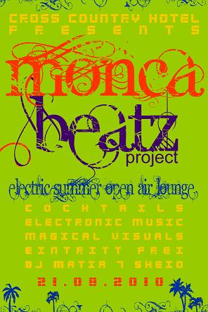 Party Flyer monca beatz project -electric Summer Open Air Lounge- 21 Aug '10, 21:00