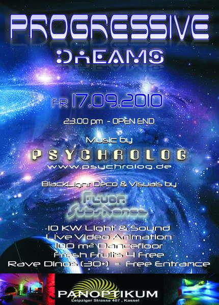 Party Flyer PROGRESSIVE DREAMS 17 Sep '10, 23:00