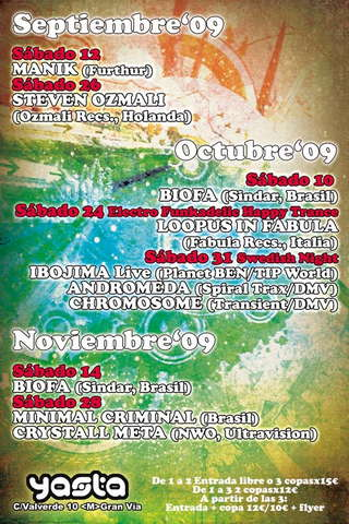 Selenium: Ya´sta Club - DJ BIOFA (SINDAR) BRA 10 Oct '09, 23:30