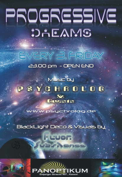 Party Flyer PROGRESSIVE DREAMS 15 Oct '10, 23:00