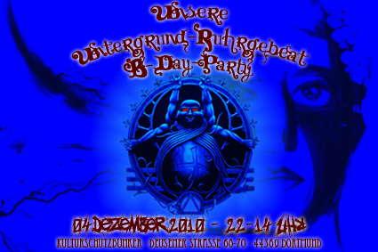 Party Flyer Untergrund-Ruhrgebeat B-Day-Party 4 Dec '10, 22:00