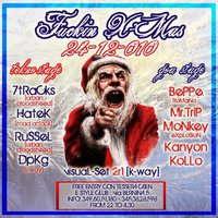 Party Flyer ---- CRAZY CHRISTMAS ---- FREE PARTY tekno+goa 24 Dec '10, 22:00