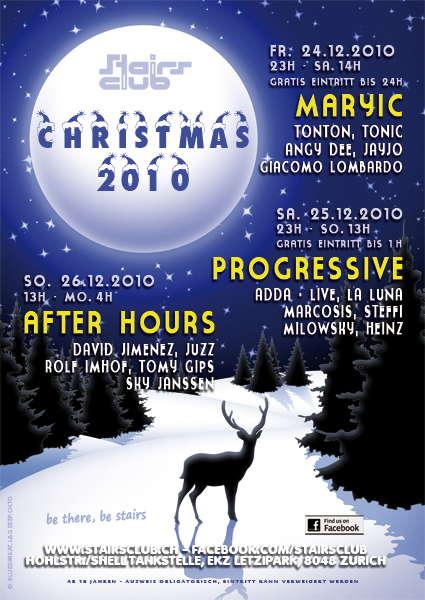 Progressive Christmas at Stairs Club 25 Dec '10, 23:00