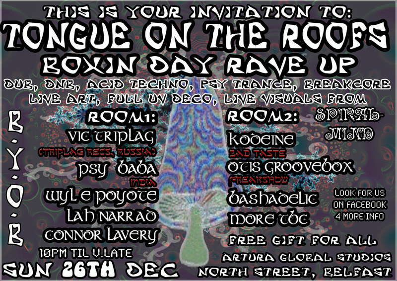ToNgUe On The RooF'S BoXiN DaY RaVe Up 26 Dec '10, 21:30